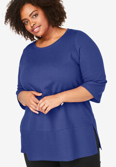 EveryWear Essential Scoop Neck Tunic, ULTRA BLUE