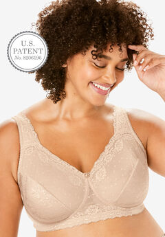Sidewire Lace Bra by Comfort Choice®, NUDE