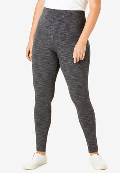 Marled Stretch Legging, BLACK MARLED