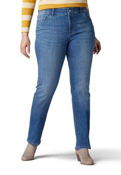 Women's Flex Motion Regular Fit Straight Leg Jean - Plus by Lee Jeans,