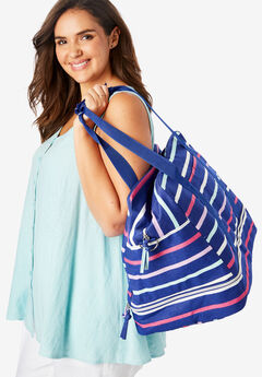 Striped Weekender Bag,