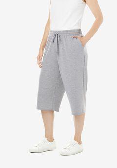 Wide Leg Fleece Capri,