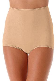 Cool cotton shaping stretch brief by Bali®, NUDE