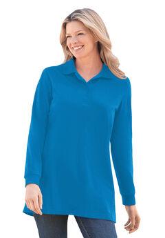 Long-Sleeve Polo Shirt,