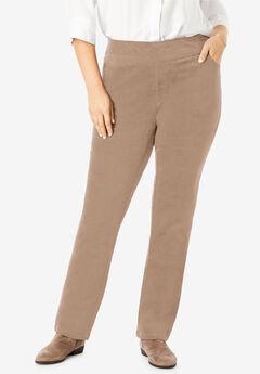 Pull-On Straight Leg Corduroy Pant, BROWN SUGAR