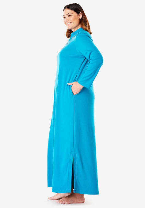 cacff49386 Long Embroidered Knit Lounger by Only Necessities®