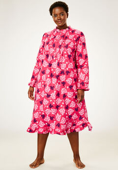 Cotton Flannel Print Short Gown by Only Necessities®,