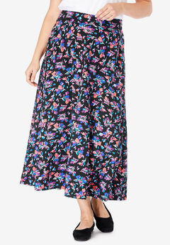 EveryWear Essential A-Line Maxi Skirt,