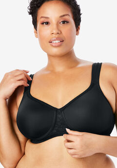 Lace Trim Microfiber Wireless T-Shirt Bra by Comfort Choice®,
