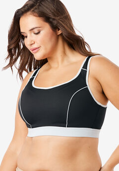 High-Impact Underwire Sport Bra by Comfort Choice®, BLACK