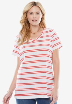 Perfect Printed V-Neck Tee,