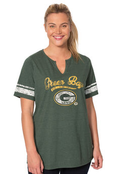 Notch Neck NFL Tee, PACKERS