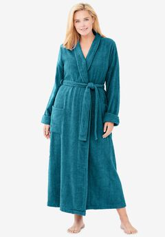 Long Terry Robe by Dreams & Co®, DEEP TEAL