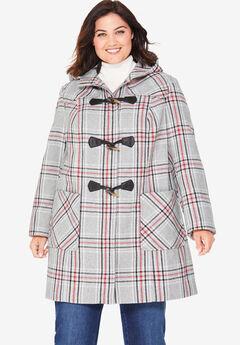 Classic Duffle Coat, HEATHER GREY PLAID