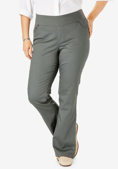 Bootcut Smooth Waist Jean, OLIVE GREY