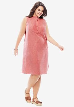 Sleeveless Pintuck Dress,
