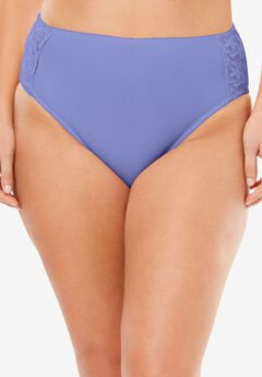 Scroll Embroidered High-Cut Brief by Amoureuse®,