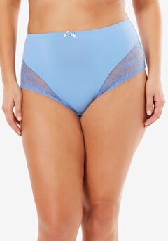 Lace Full-Cut Brief by Amoureuse®, FOUNTAIN BLUE