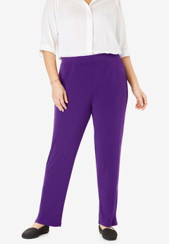 Best Dressed® Essential Slim Leg Pant, RADIANT PURPLE