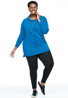 Funnel Neck Hoodie and Legging Set,
