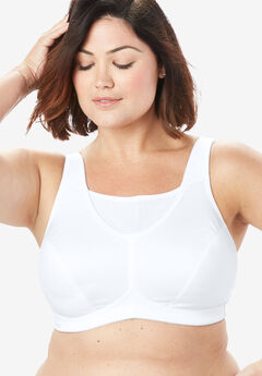 Glamorise® No-Bounce Camisole Sport Bra #1066, WHITE