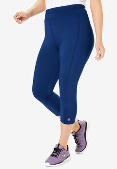 Active Capri Legging by FullBeauty SPORT®, EVENING BLUE