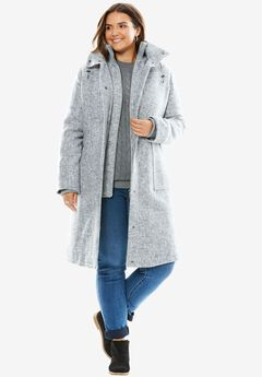 Wool Layered Winter Coat,