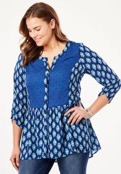 Chelsea Studio® Babydoll tunic,