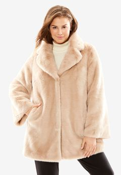 Fabulous Furs® Notch Collar Mink Coat,