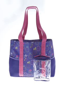 2-piece tropical beach bag set,
