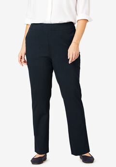 Micro Twill Straight Leg Pull-On Pant,
