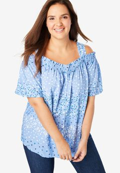 7b5567d20dc66c Plus Size Short Sleeve Shirts   Blouses for Women