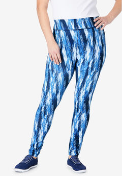 Classic Legging, EVENING BLUE ABSTRACT