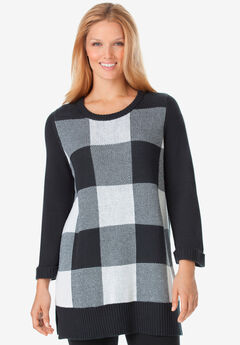 Buffalo Plaid Pullover Sweater,