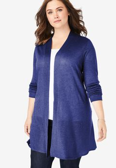 Lightweight Open Front Cardigan, ULTRA BLUE