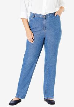 Cotton Straight Leg Jean,