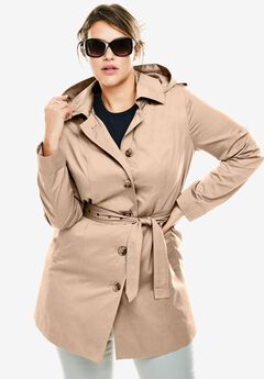 Classic trench raincoat,