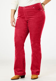 Stretch Corduroy Bootcut Jean, FRESH RED