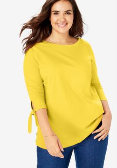 Perfect Tie Sleeve Tee,