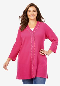 Button-Front Thermal Tunic,