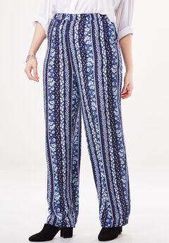 b695fa9d7005 Straight Leg Lightweight Soft Pants. Woman Within
