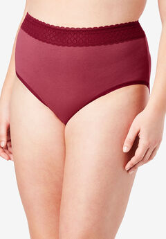 3-Pack Lace Waistband Full-Cut Brief by Comfort Choice®,