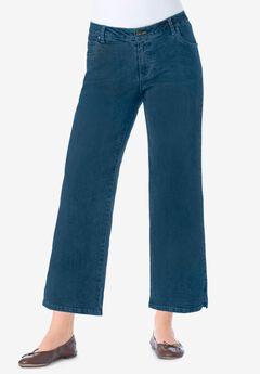 Wide-Leg Cropped Stretch Jean,