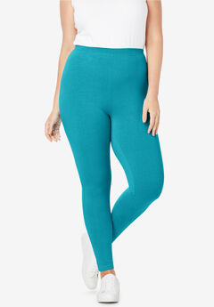 Stretch Cotton Legging, DEEP TURQUOISE