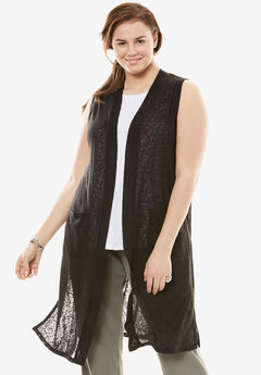 Knit Duster Vest,