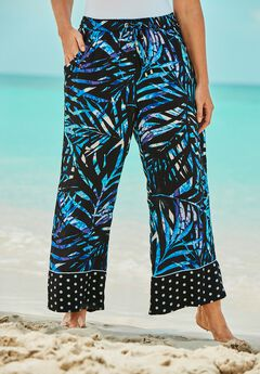 Wide-Leg Pant Swim Cover-Up Pant by Swim 365,
