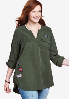 Utility Patch Tunic by Chelsea Studio®,
