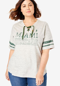NCAA Lace-Up Tee,