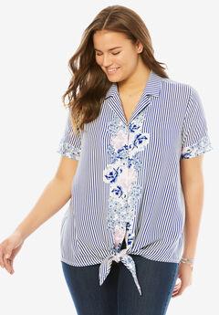 Tie-Front Shirt,