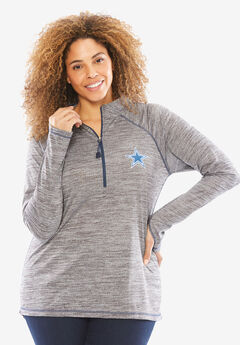 NFL Half-Zip Mock Neck Tee, COWBOYS